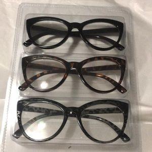 Betsey Johnson Accessories - Betsey Johnson 3 pair Reading Glasses +2.50